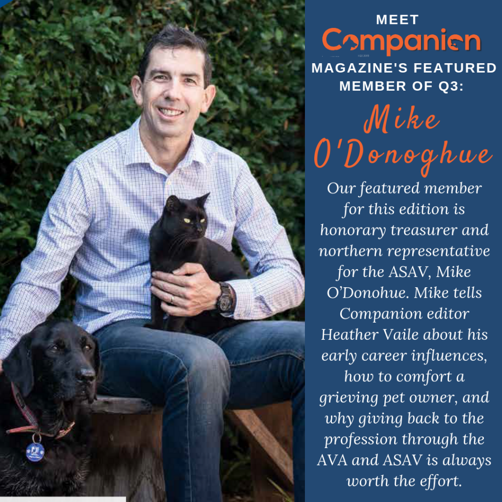 Companion Magazine ASVA Member Feature Mike O'Donohue