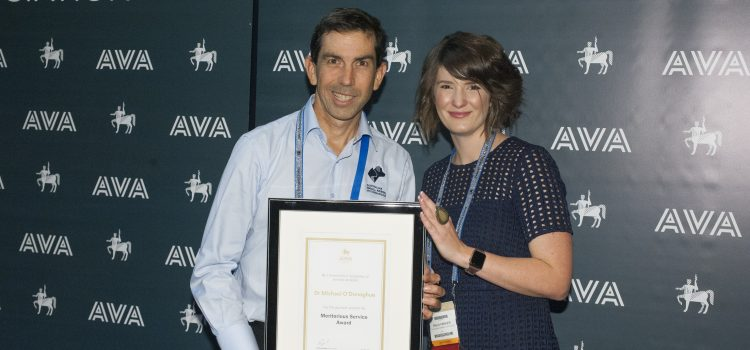 AVA Recognises Dr Michael O'Donoghue with the Meritorious Service Award